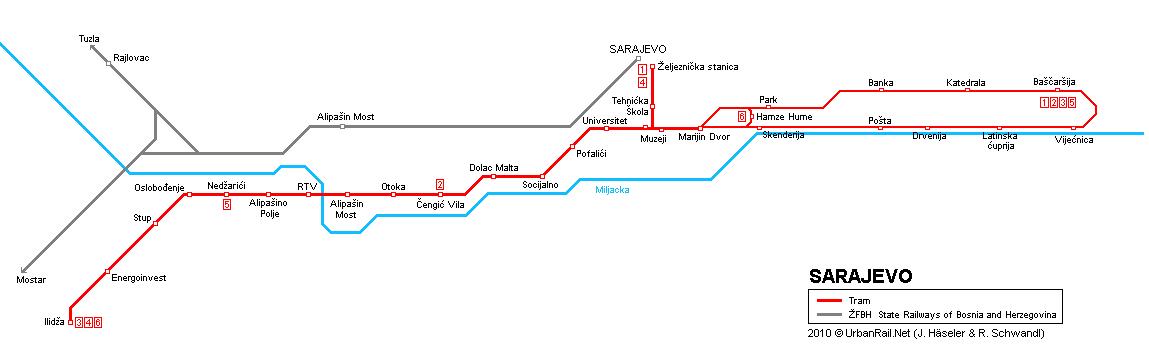 saraybosna-tramvay-haritası