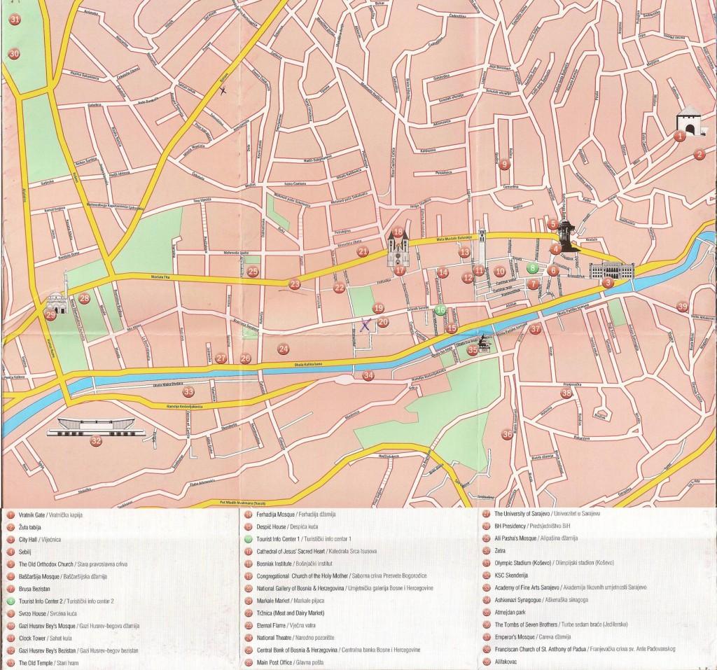 Sarajevo-Map