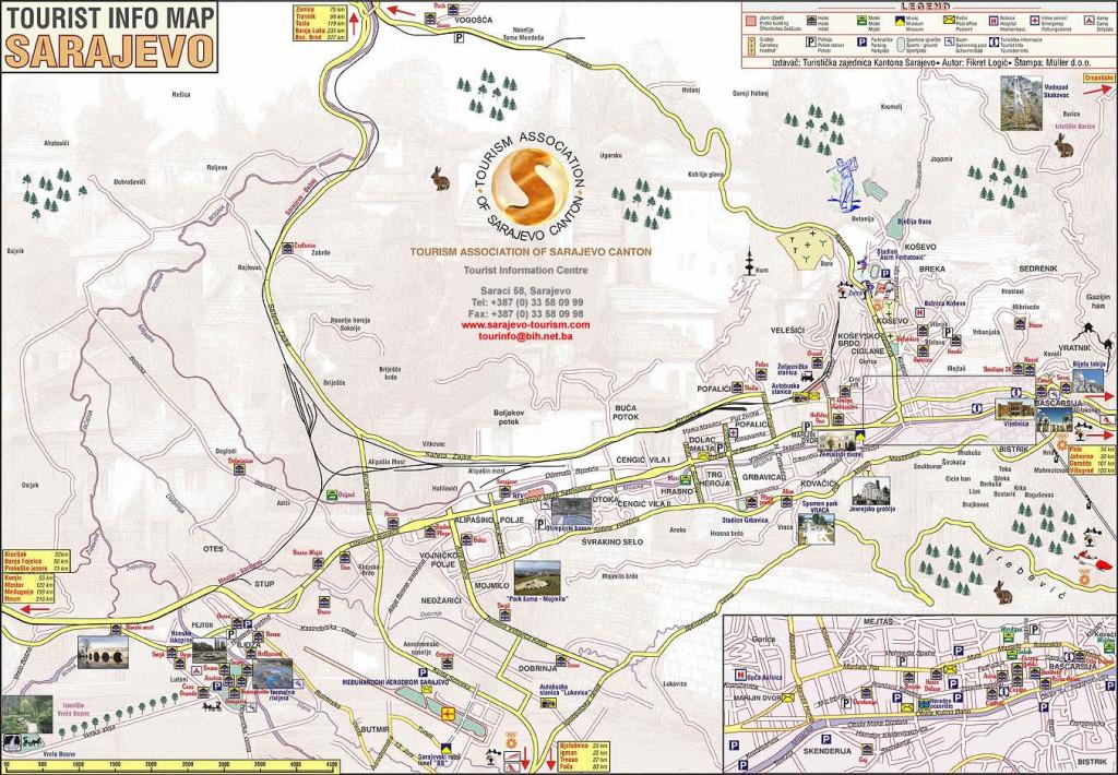 Sarajevo-Tourist-Map